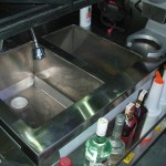 Bar sink and ice bin