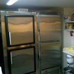 Upright freezer and fridge