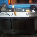 Table Refrigerator with inserts