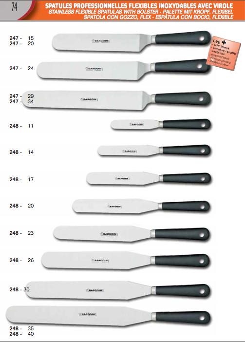 Pastry spatulas
