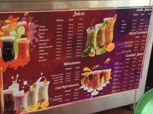 Cocktail Samaya menu