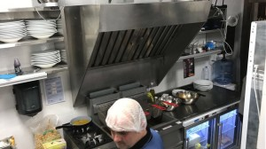 Kitchen stainless exhaust hood
